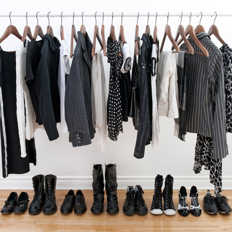 photo of black clothes and footwear